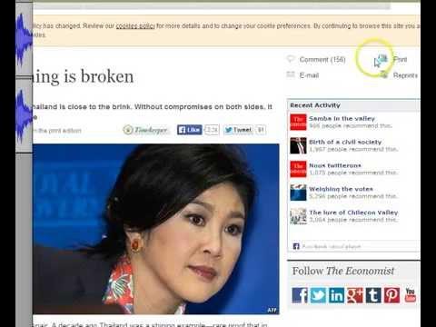 ประเทศไทยกำลังดิ่งสู่ก้นเหวหายนะ!!  The Economist เตือน ถอยคนละก้าว