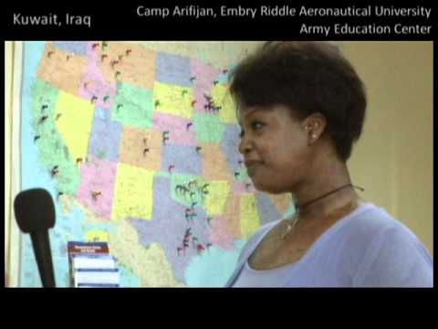 WATCH Gwendolynn Hopson at Embry Riddle Aeronautical University in Camp Arifjan, Kuwait
