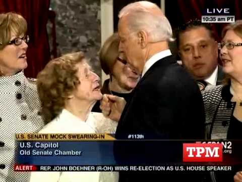 Joe Biden Works The Room At Senate Swearing In Ceremony