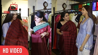 Sonali Bendre At Shaina NC's Handloom Collection Of Sarees | Jhelum, Multi-Designer Fashion House