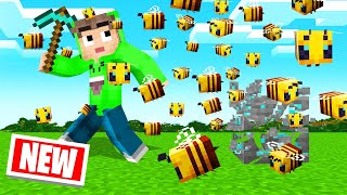 *NEW* BEES That STING YOU In MINECRAFT!