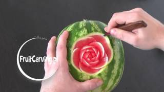 #43 How to make watermelon rose / Jak zrobić różę w arbuzie