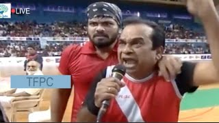 brahmi-fires-on-mohan-babu-judgement-comedymemu-saitam-event-live-streamingtfi-hudhud-relief