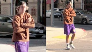 Justin Bieber Revs His Lambo Engine, Back In LA After Punching A Dude At Coachella