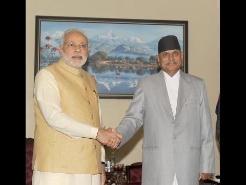 PM Narendra Modi meets President of Nepal Dr. Ram Baran Yadav