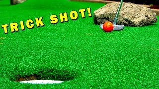 Mini Golf TRICK SHOT! Let's Play Mini Golf for Real!