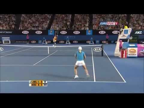 Justine Henin wins 15 Points in a row vs Serena Williams - Australian Open Final 2010
