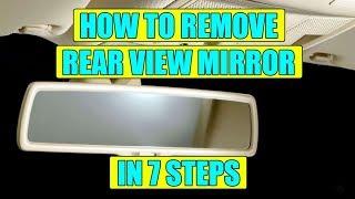 How to remove interior rear view mirror (rain sensor) VW Golf Mk5, Jetta, Passat in 7 steps
