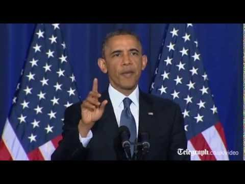 Barack Obama heckled over Guantanamo Bay