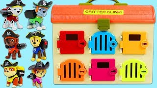 Paw Patrol Pirate Pups Hide Surprise Toys in Clinic Playset!