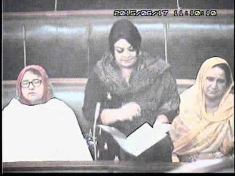 Madiha Rana's Post Budget speech on the floor of Punjab Assembly, on Wednesday, 17th June 2015.
