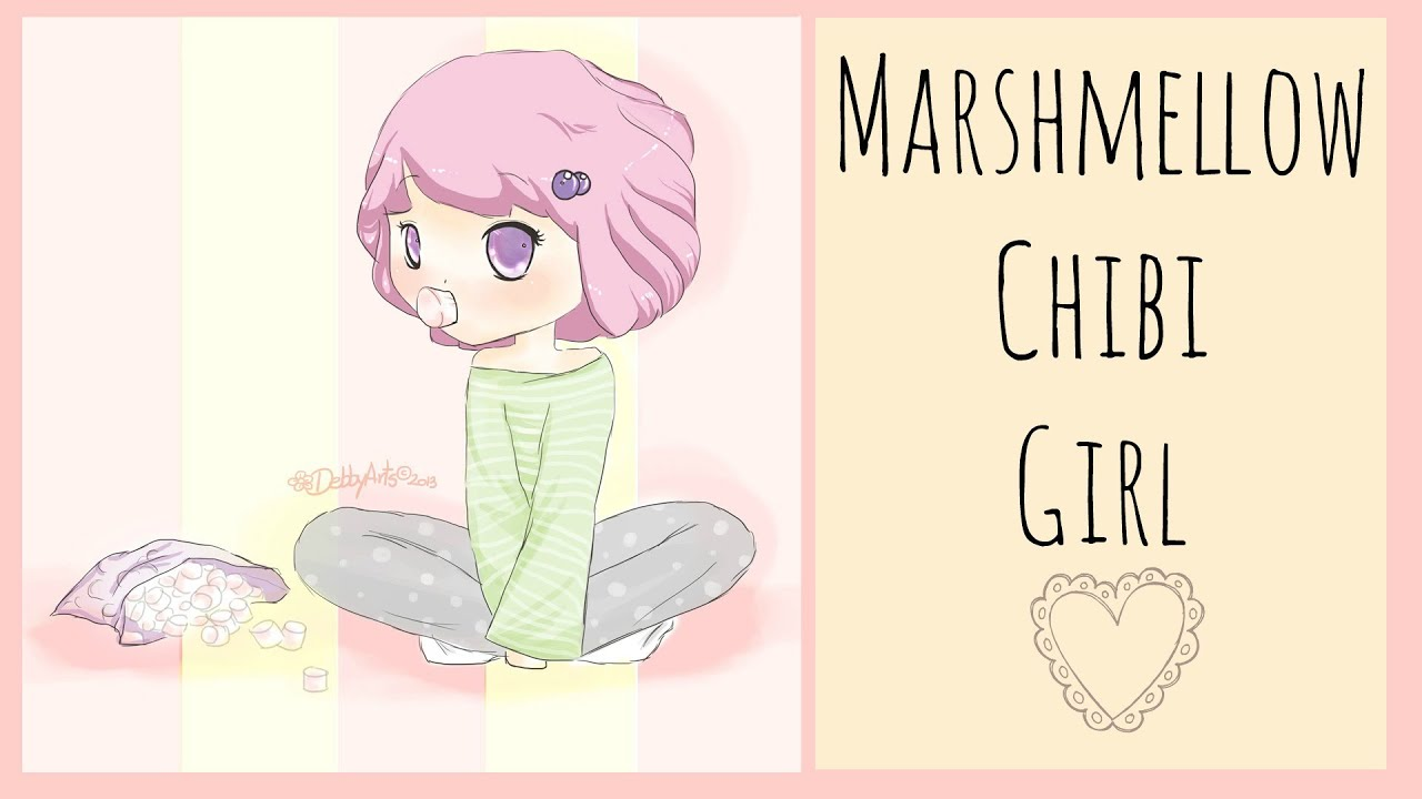 The Food Chibi Series Marshmallow Girl Speed Drawing