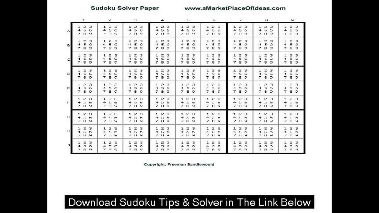 Very Easy Sudoku Printable sudoku puzzle