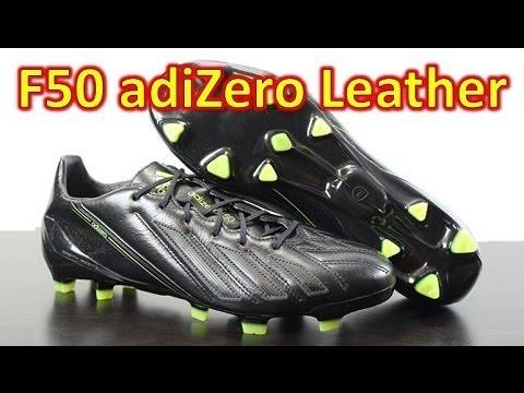 Adidas F50 adizero miCoach 2 Leather Blackout - Unboxing + On Feet