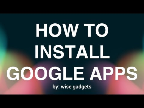 How to install Google Apps