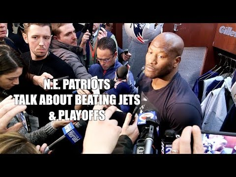 N.E. Patriots Talk About Beating Jets & Upcoming Playoffs