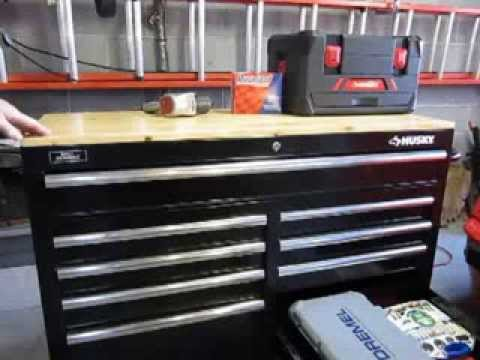 Husky 46 Inch Mobile Workbench Youtube