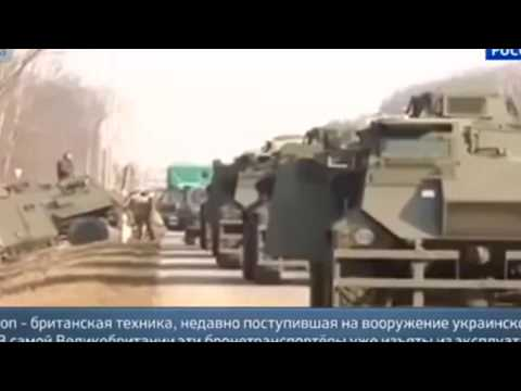Accident Ukrainian military armored personnel carriers and infantry fighting vehicles 14 03 2015 Ukr