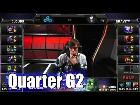 Cloud 9 vs Gravity | Game 2 Quarter Finals S5 NA LCS Regional Qualifier for Worlds | C9 vs GV G2 QF