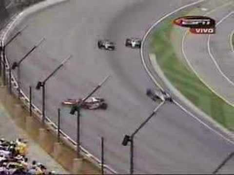 Auto Racing Glen Sullivan on 2003 Indy 500   Dan Wheldon Crashes And Flips   Replays