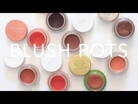 Product Pile: Cream Blush Pots | RMS Beauty, Tata Harper, Luma