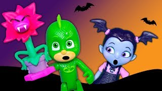 Vampirina Fangtastic Friends Fails with PJ Masks and Paw Patrol Spooky Tricks