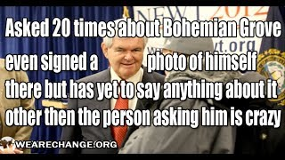 Why is Newt Gingrich Afraid to Talk About Bohemian Grove?