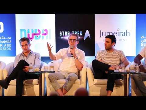Star Trek Beyond cast in Dubai, including Chris Pine, Zachary Quinto, Idris Elba and Simon Pegg