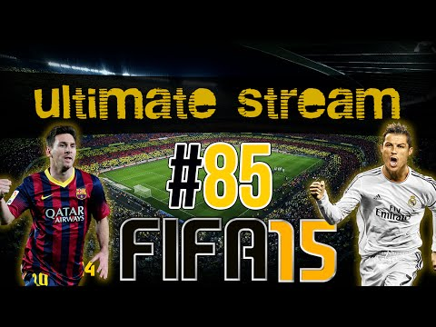 #85 - UltimateStream AGORA - 1ª Live no FIFA 15! Ultimate Team [PS4]