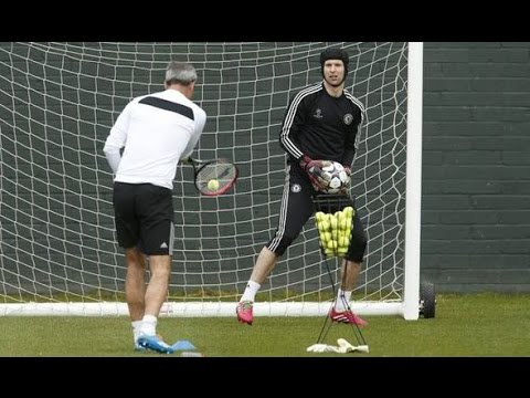 Goalkeeper training - Petr Cech training