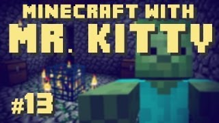 Minecraft With Mr.Kitty Episode 13, Knife Fight with Zombies