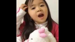 cute girl say good night