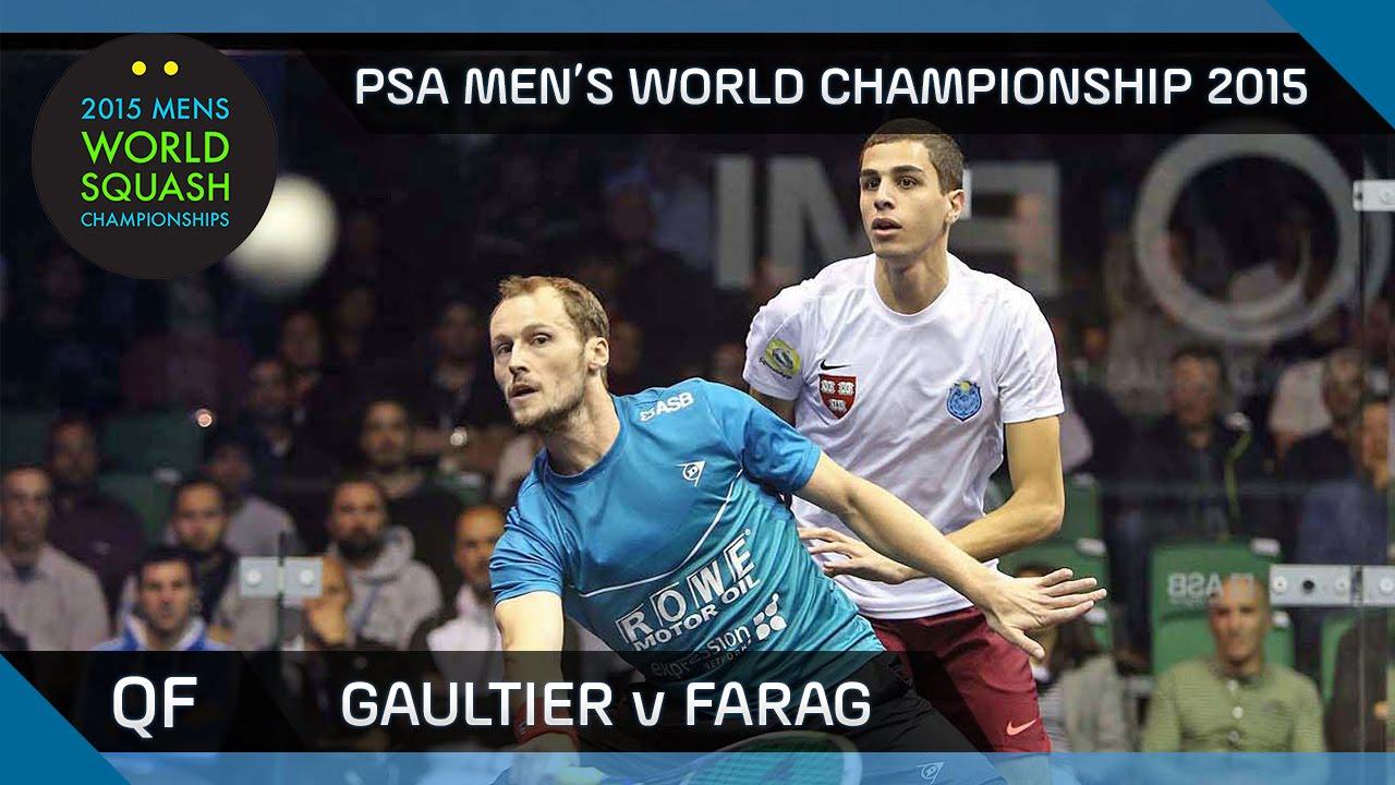 Squash: 2015 PSA Men's World Championship QF Highlights: Gaultier v Farag