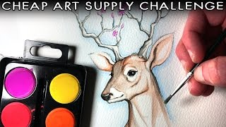 CHEAP ART SUPPLY CHALLENGE - Watercolour