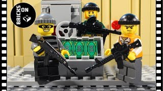 Lego Bank Robbery Heist Bomb Lego City Police Brickfilm Catch the crooks Stop Motion Animation