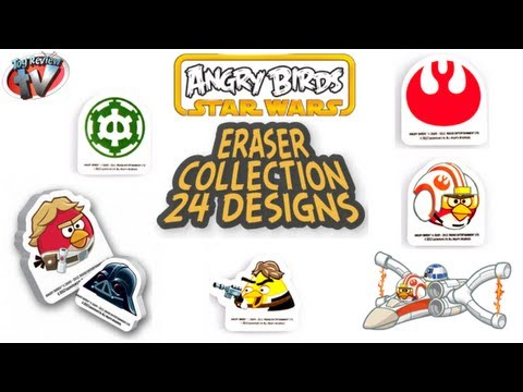 Angry Birds Star Wars Erasers Blind Bags Toy Review. Just Toys Intl