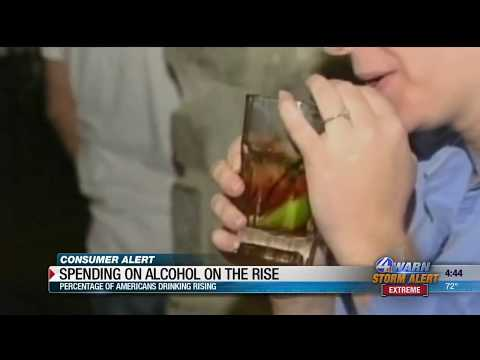 Spending on alcohol on the rise