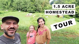 1.5 Acre Homestead TOUR!! (homesteading family)