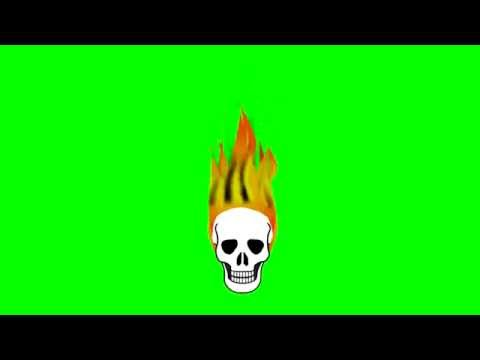 Animated Flaming Skull ~ Green Screen thumbnail