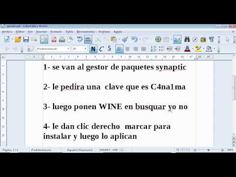como instalar WINE para linux canaima 3.1