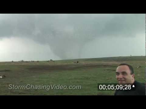 4/14/2012 Crawford, KS Wedge Tornado Stock Footage