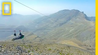 Ride the World's Longest Zipline in the UAE   National Geographic
