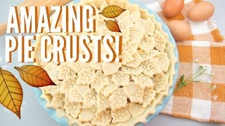 3 Amazing Pie Crusts Designs! (Braided, Leaves, and Floral Crusts)