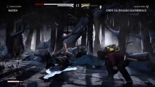 Live Mortal Kombat XL chefe da invasão troféu morrer vc ira.