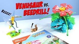 MEGA Construx Pokémon Venusaur vs Beedrill Duel Set Build