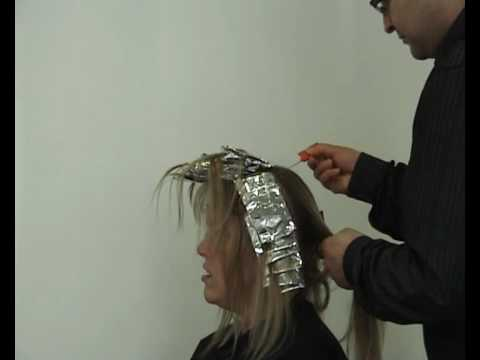 how to highlight hair using foils. also in my collection of videos are