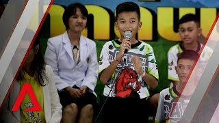 Thai cave rescue: Highlights from the Wild Boars' first public appearance