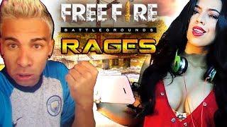 OS MAIORES RAGES NO FREE FIRE - Battlegrounds (piuzinho)