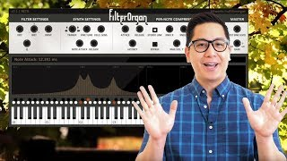 FilterOrgan VST/AU plugin - polyphonic tuned filters controlled by MIDI