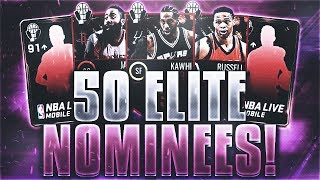 50x ELITE AWARD NOMINEES!! TWO INSANE 96 OVERALL PULLS!!! BEST PACK OPENING EVER!! | NBA Live Mobile